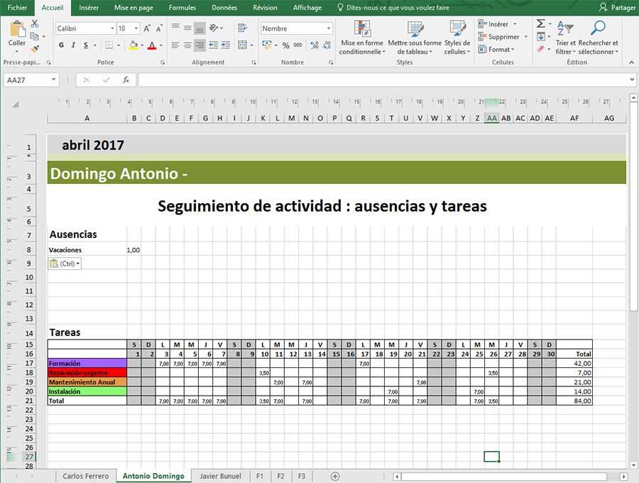 Crear una plantilla de planning en Excel con PlanningPME