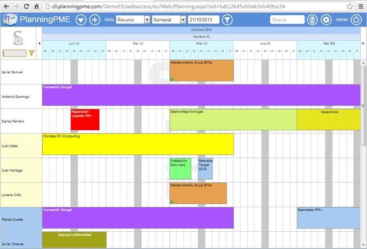 Nuevo PlanningPME Web Access