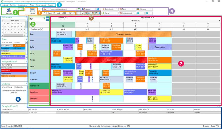 Planificación simple y eficaz con PlanningPME